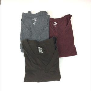 Bundle of 3 V neck short sleeve T-shirts